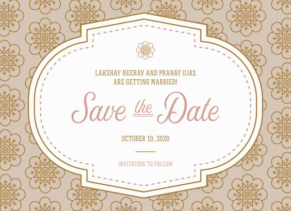 Elegant Pattern Save The Date