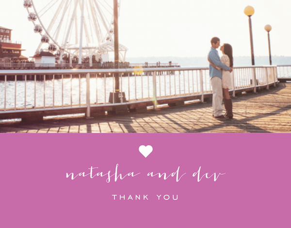 Sweet & Simple Custom Thank You Card