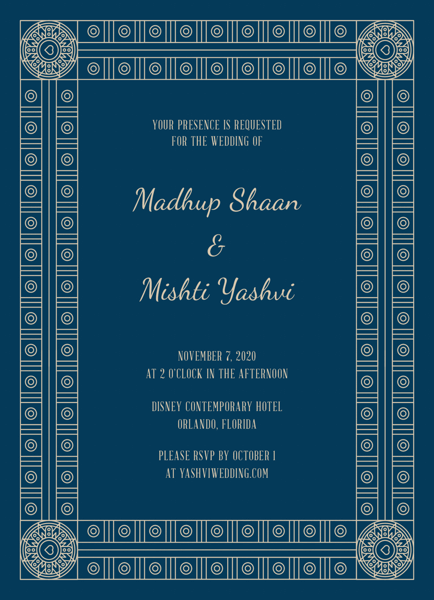 Decorative Frame Invitation