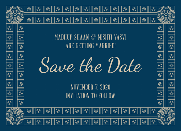 Decorative Frame Save The Date