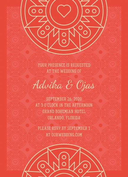 Red Decorative Invitation