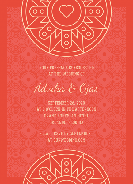 Red Decorative Invitation