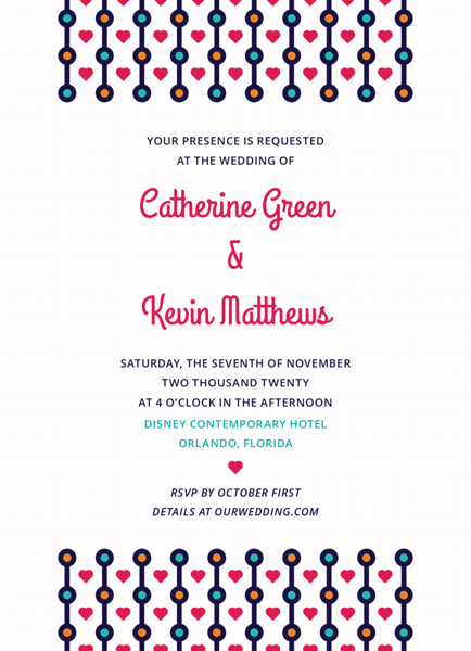 Colorful Beads Invitation
