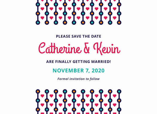 Colorful Beads Save The Date