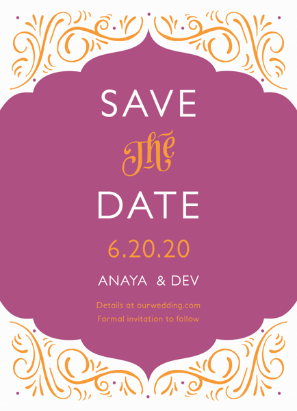 Ornamental Fuchsia Save The Date