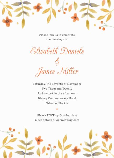 Watercolor Florals Invitation