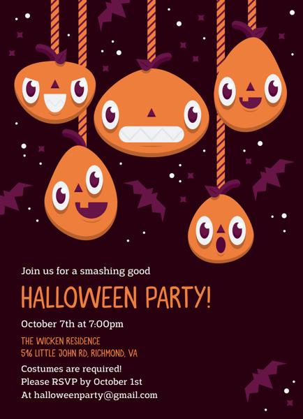 Pumpkin Halloween Party