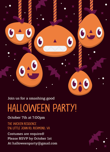 Pumpkin Halloween Party