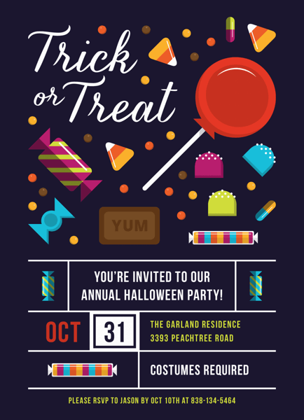 Trick Or Treat Halloween Party