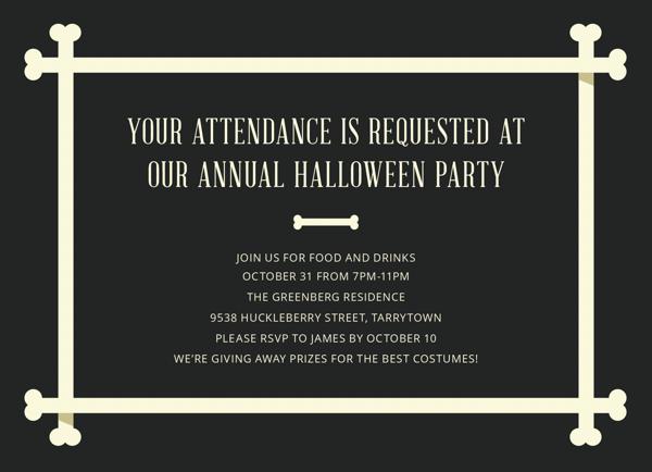 Bone Frame Halloween Party