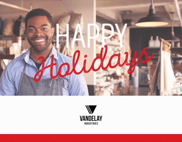 fully custom photo business holiday card