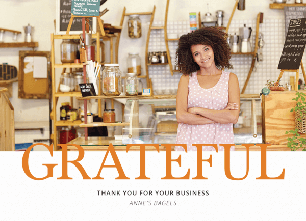 photo business thanksgiving card
