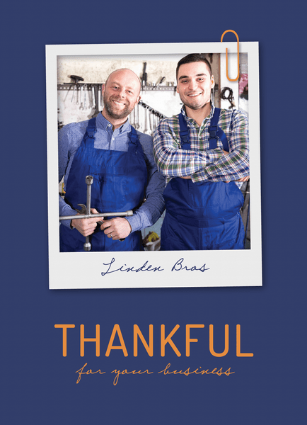 customizable business thank you note with photo
