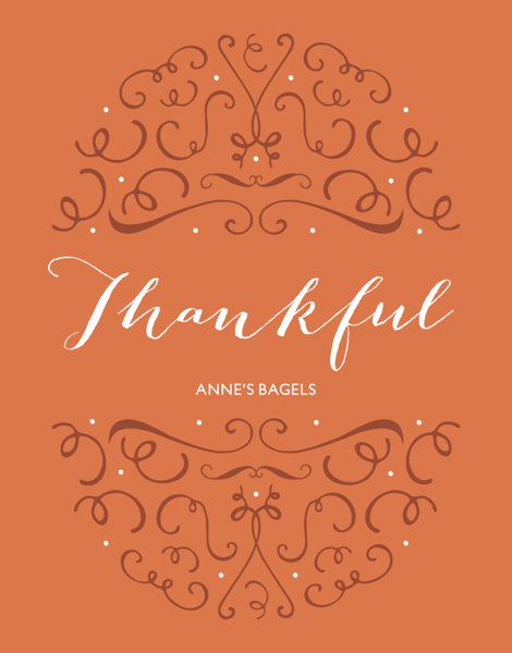 elegant business thanksgiving card