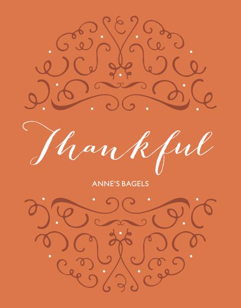 elegant business thanksgiving card