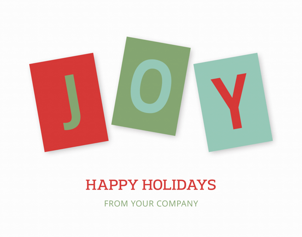 joy business holiday card