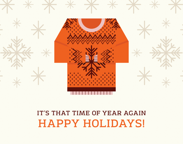 sweater season holiday card