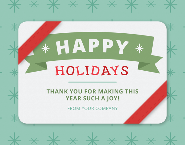 colorful business holiday greeting