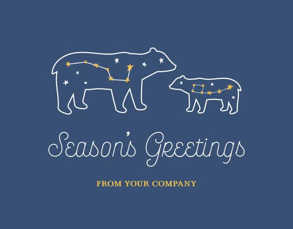 astronomy seasons greetings card