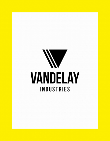 vertical logo business greeting with border