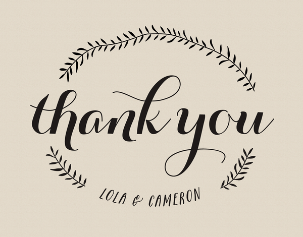 Custom Natural Branch Thank You Note