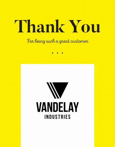 fully customizable business logo greeting card