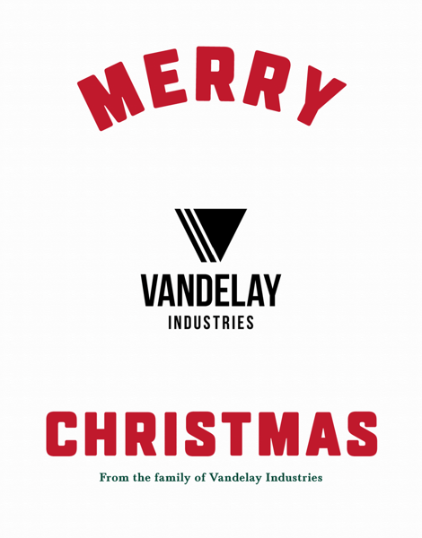 business merry christmas card with logo