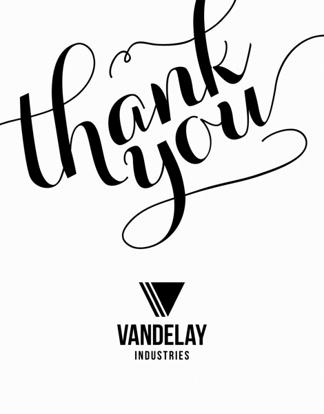 Thank You Script With Logo