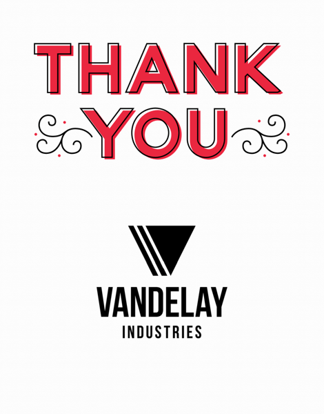 Vintage Thank You Logo Card