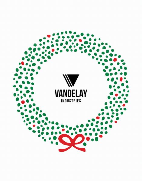 custom holiday logo business greeting card
