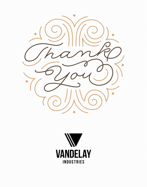 Art Deco Thank You With Logo