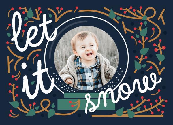 Let it snow custom holiday card