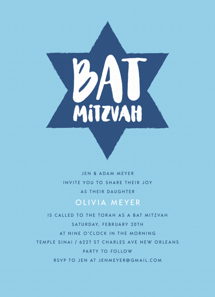 Brushy Star Bat Mitzvah