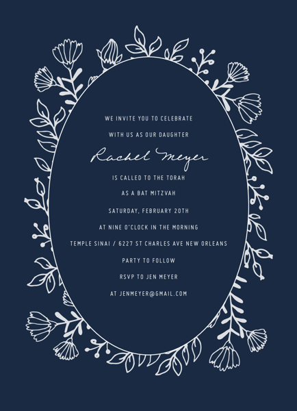 Lovely Flower Invite