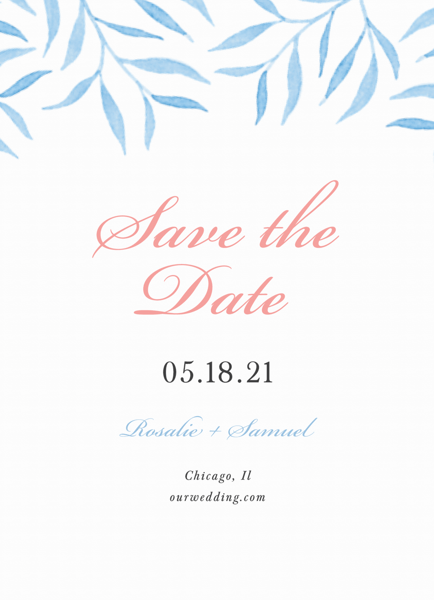 Blue Willow Save The Date