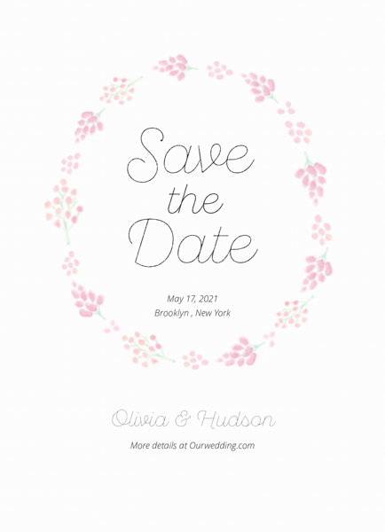 Lilac Calligraphy Save The Date