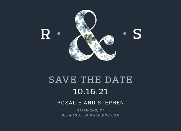 Floral Ampersand Save The Date