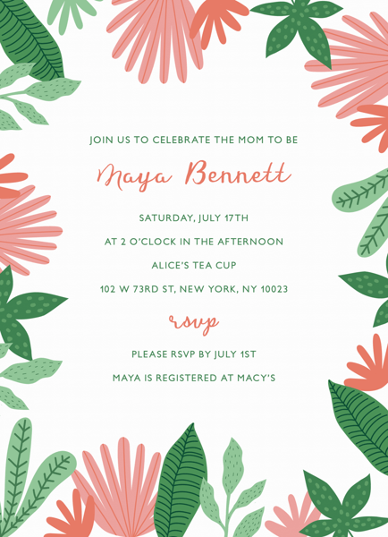 Jungle Leaves Baby Shower