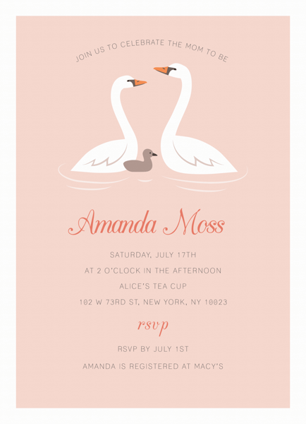 Swan Family Baby Shower