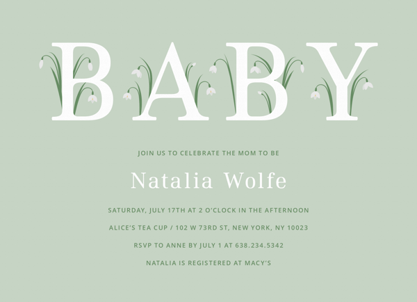 Delicate Floral Baby Shower