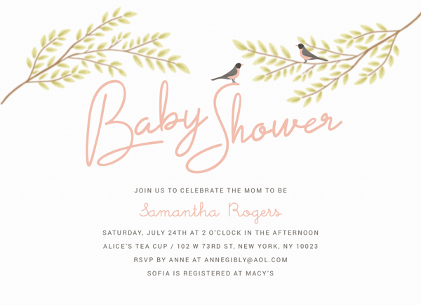 Spring Birds Baby Shower