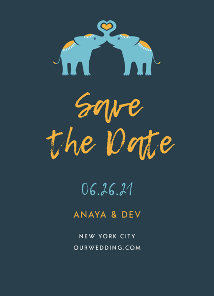 Elephant Love Save The Date