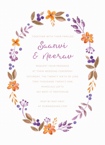 Floral Wreath Invite