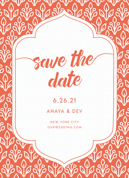Floral Wallpaper Save The Date