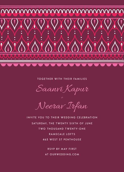 Ornamental Top Invitation