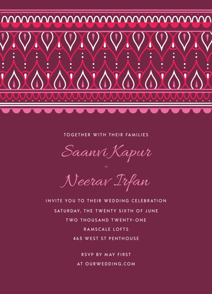 Ornamental Top Invitation
