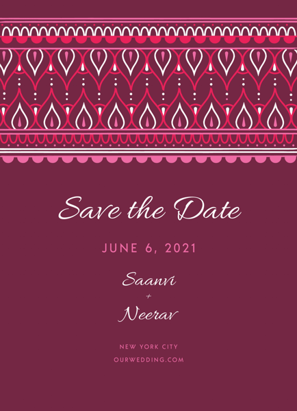 Ornamental Top Save The Date