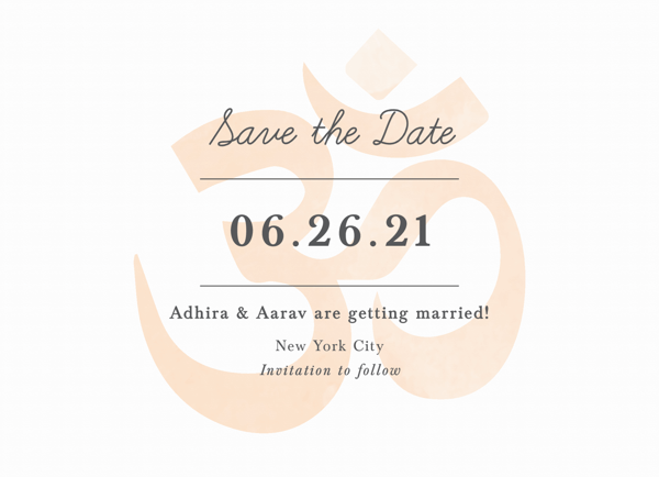 Om Save The Date