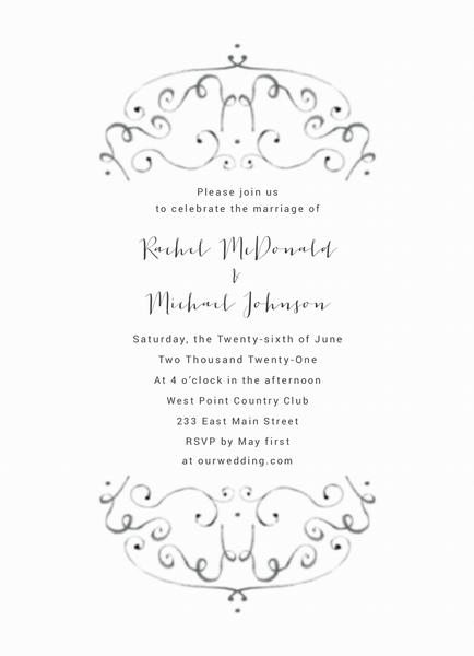 Airy Ornament Invite