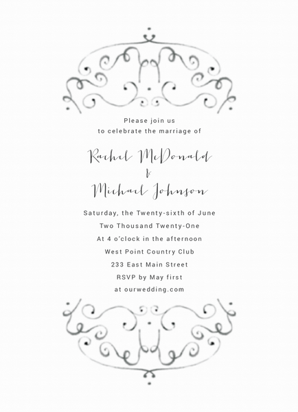 Airy Ornament Invite